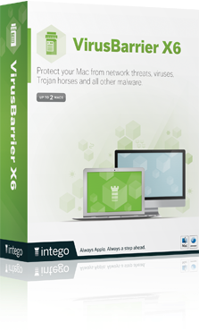 VirusBarrier X6 Protect your Mac from network threats, viruses, Trojan horses and all other malware.